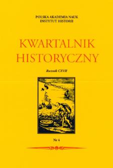 Kwartalnik Historyczny R. 117 nr 4 (2010), Artykuły recenzyjne