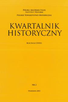 Kwartalnik Historyczny R 118 nr 2 (2011), Artykuły recenzyjne