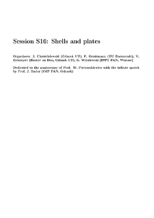 Session S16: Shells and plates