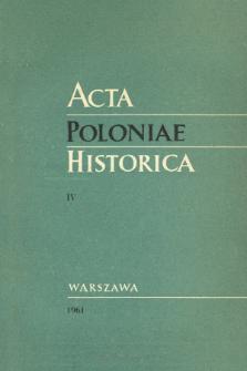 Acta Poloniae Historica T. 4 (1961), Notes critiques