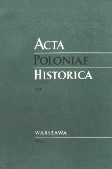 Acta Poloniae Historica T. 14 (1966), Études