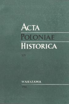 Acta Poloniae Historica T. 14 (1966), État de question