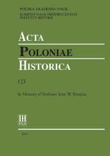Acta Poloniae Historica T. 123 (2021), Archive