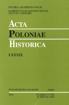 Acta Poloniae Historica T. 89 (2004), Reviews