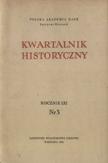Kwartalnik Historyczny R. 61 nr 3 (1954)