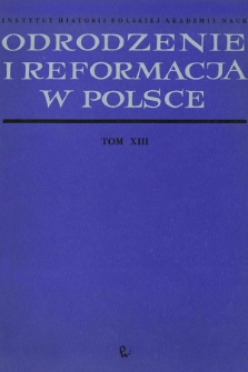 Odrodzenie i Reformacja w Polsce T. 13 (1968)