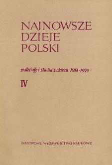 Najnowsze Dzieje Polski : materiały i studia z okresu 1914-1939 T. 4 (1961)