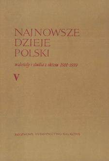 Najnowsze Dzieje Polski : materiały i studia z okresu 1914-1939 T. 5 (1962)