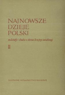 Najnowsze Dzieje Polski : materiały i studia z okresu II wojny światowej T. 2 (1959)