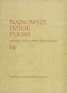 Najnowsze Dzieje Polski : materiały i studia z okresu II wojny światowej T. 7 (1963)