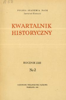 Kwartalnik Historyczny R. 63 nr 2 (1956), Artykuły recenzyjne