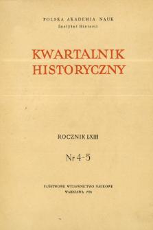 Kwartalnik Historyczny R. 63 nr 4-5 (1956), Studia poświęcone Natalii Gąsiorowskiej, Artykuły recenzyjne
