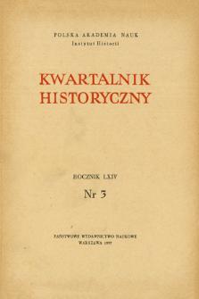 Kwartalnik Historyczny R. 64 nr 3 (1957), Artykuły recenzyjne