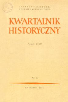 Kwartalnik Historyczny R. 72 nr 3 (1965), Artykuły recenzyjne