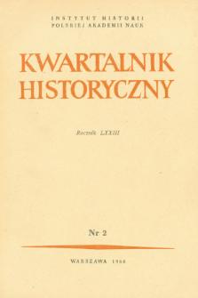 Kwartalnik Historyczny R. 73 nr 2 (1966), Artykuły recenzyjne