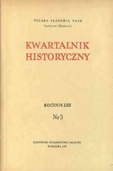 Kwartalnik Historyczny, R. 62 nr 3 (1955), Materiały