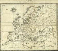 General-Karte von Europa in 25 Blättern