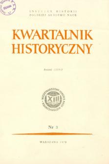 Kwartalnik Historyczny R. 77 nr 3 (1970), Między dwiema wojnami światowymi