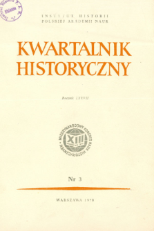 Kwartalnik Historyczny R. 77 nr 3 (1970), Reformy agrarne i ruchy chłopskie w XIX i XX w.