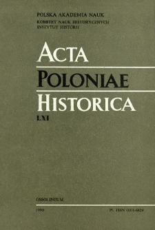 Acta Poloniae Historica. T. 61 (1990)