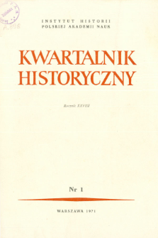 Kwartalnik Historyczny R. 78 nr 1 (1971), Artykuły recenzyjne