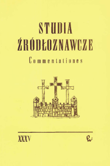 Studia Źródłoznawcze = Commentationes T. 35 (1994)