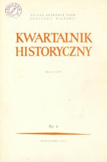 Kwartalnik Historyczny R. 80 nr 4 (1973), Artykuły recenzyjne