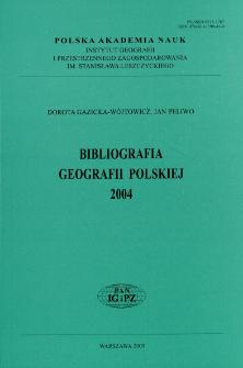 Bibliografia Geografii Polskiej = Bibliography of Polish Geography = Bibliografija Pol'skoj Geografii