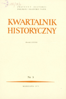 Kwartalnik Historyczny R. 78 nr 3 (1971)