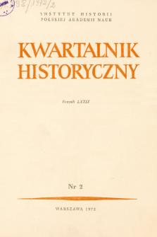 Kwartalnik Historyczny R. 79 nr 2 (1972), Artykuły recenzyjne