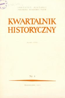 Kwartalnik Historyczny R. 79 nr 4 (1972), Artykuły recenzyjne