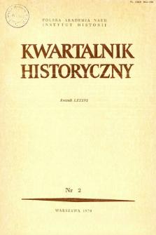 Kwartalnik Historyczny R. 86 nr 2 (1979), Artykuły recenzyjne