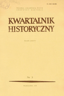 Kwartalnik Historyczny R. 86 nr 3 (1979), Artykuły recenzyjne