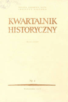 Kwartalnik Historyczny R. 86 nr 4 (1979)