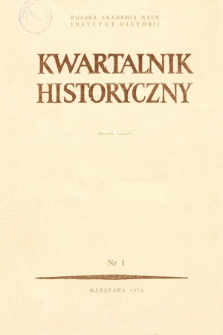 Kwartalnik Historyczny R. 85 nr 1 (1978), Artykuły recenzyjne