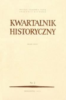 Kwartalnik Historyczny R. 85 nr 2 (1978)