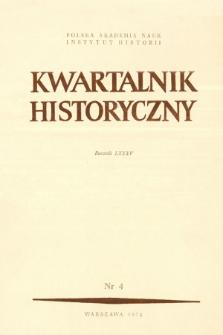 Kwartalnik Historyczny R. 85 nr 4 (1978), Artykuły recenzyjne