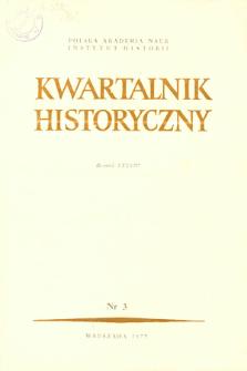 Kwartalnik Historyczny R. 84 nr 3 (1977), Artykuły recenzyjne