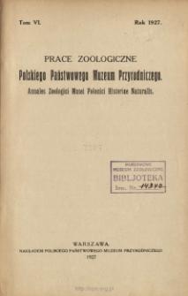 Prace Zoologiczne Polskiego Państwowego Muzeum Przyrodniczego ; t. 6