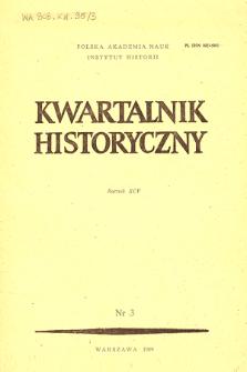 Kwartalnik Historyczny R. 95 nr 3 (1988), 70-lecie odzyskania niepodległości Polski