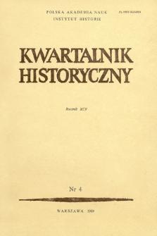 Kwartalnik Historyczny R. 95 nr 4 (1988)