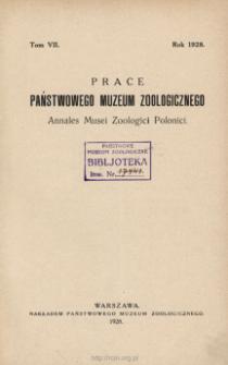 Prace Państwowego Muzeum Zoologicznego ; t. 7