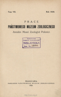 Prace Państwowego Muzeum Zoologicznego ; t. 8