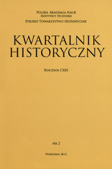 Kwartalnik Historyczny R. 119 nr 2 (2012)