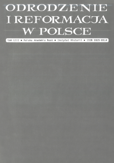 Odrodzenie i Reformacja w Polsce T. 53 (2009), Polemiki i dyskusje