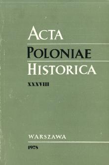 Acta Poloniae Historica. T. 38 (1978), Études sur la classe ouvrière
