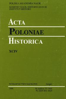 Acta Poloniae Historica. T. 94 (2006), Jewish Studies