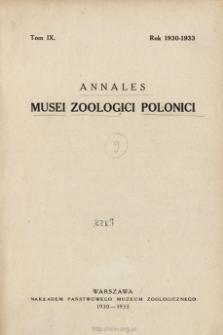 Annales Musei Zoologici Polonici ; t. 13