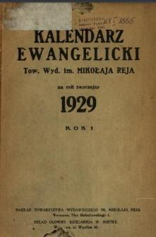 Kalendarz Ewangelicki Tow. Wyd. im. Mikołaja Reja : na rok zwyczajny ... .