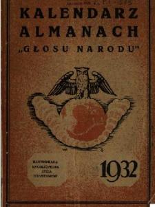 """Kalendarz Almanach """"Głosu Narodu"""" : [ilustrowana encyklopedja życia codziennego]."""